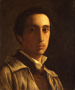 Self portrait possibly 1854 | Edgar Degas | Oil Painting