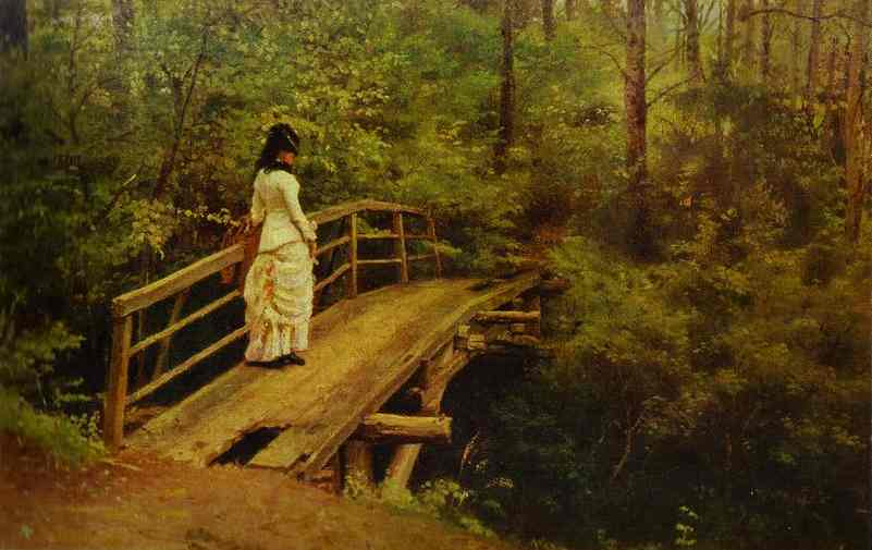 On A Bridge In Abramtsevo 1879 | Ilya Repin | Oil Painting