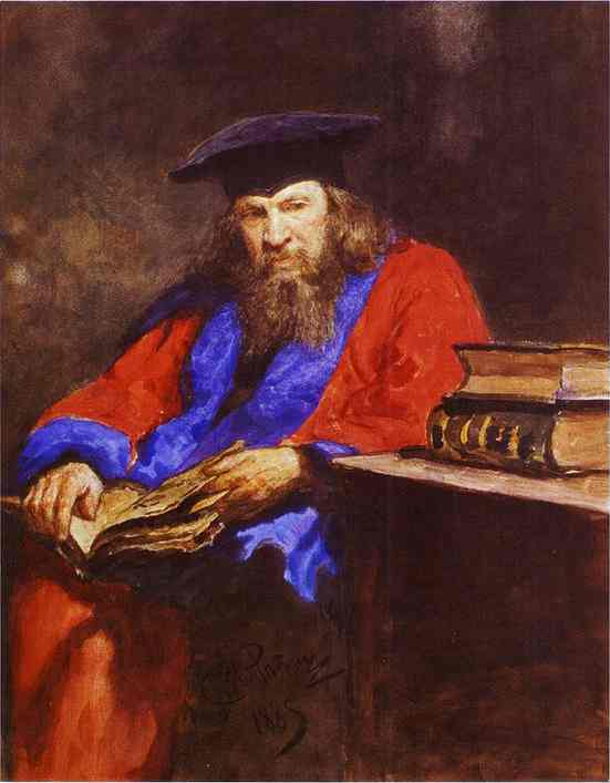 Portrait Of Dmitry Mendeleev 1885 | Ilya Repin | Oil Painting