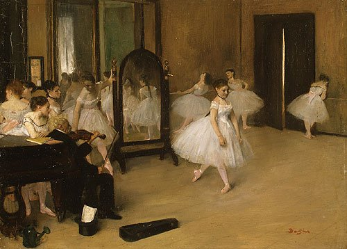 The Dancing Class probably 1871 | Edgar Degas | Oil Painting