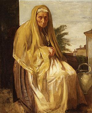 The Old Italian Woman 1857 | Edgar Degas | Oil Painting