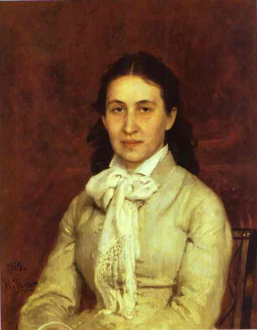 Portrait Of E Mamontova 1874-1879 | Ilya Repin | Oil Painting