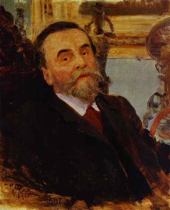 Portrait Of Ivan Zvetkov 1907 | Ilya Repin | Oil Painting