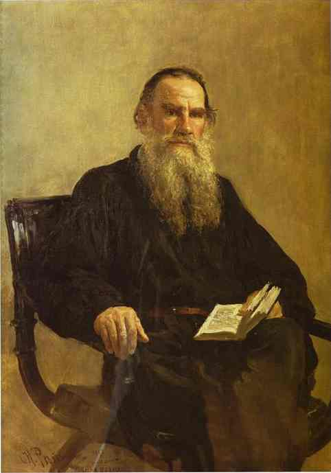 Portrait Of Leo Tolstoy 1887 | Ilya Repin | Oil Painting