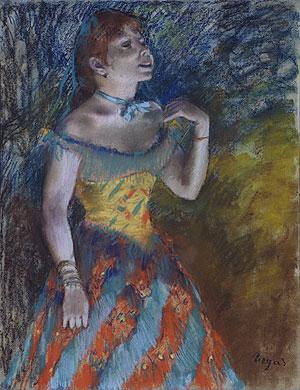 The Singer in Green ca. 1884 | Edgar Degas | Oil Painting