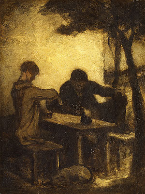 The Drinkers | Honore Daumier | Oil Painting