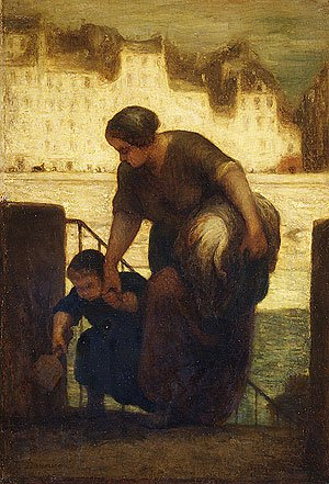 The Laundress 1863 | Honore Daumier | Oil Painting