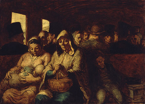 The Third Class Carriage ca 1863 | Honore Daumier | Oil Painting