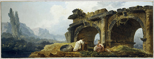 Arches in Ruins overdoor | Hubert Robert | Oil Painting