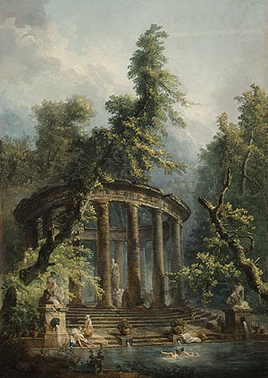 The Bathing Pool | Hubert Robert | Oil Painting