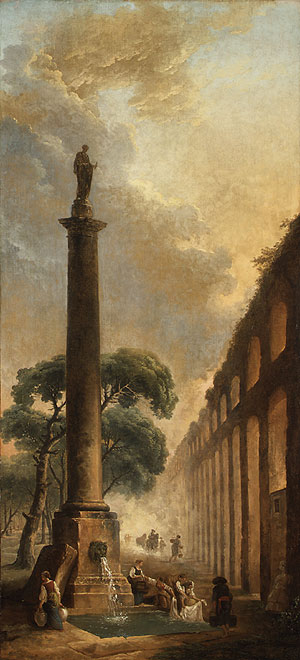 The Fountain | Hubert Robert | Oil Painting