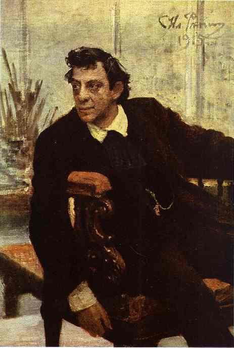 Portrait Of The Actor Pavel Samoylov 1915 | Ilya Repin | Oil Painting