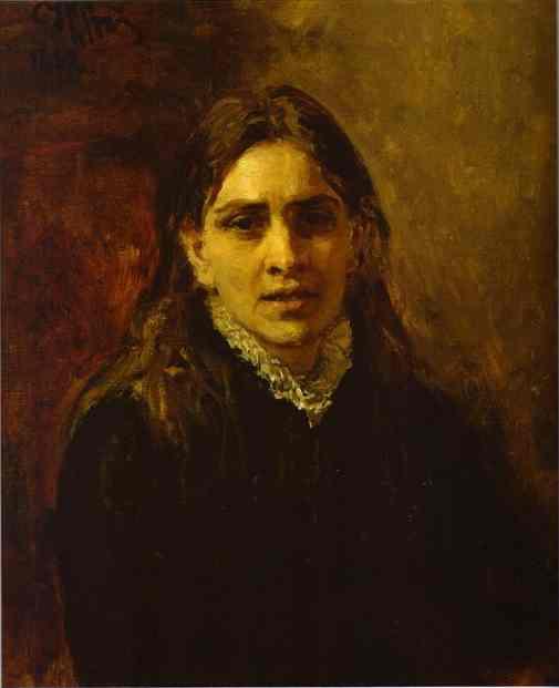 Portrait Of The Actress Pelageya Strepetova 1882 | Ilya Repin | Oil Painting