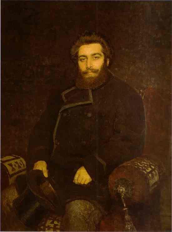Portrait Of The Artist Arkhip Kuinji 1877 | Ilya Repin | Oil Painting