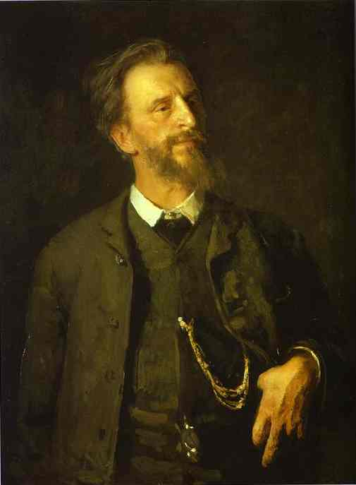 Portrait Of The Artist Grigory Myasoedov 1886 | Ilya Repin | Oil Painting