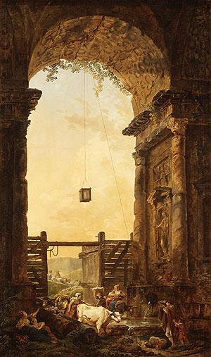 The Return of the Cattle   Hubert Robert   Oil Painting