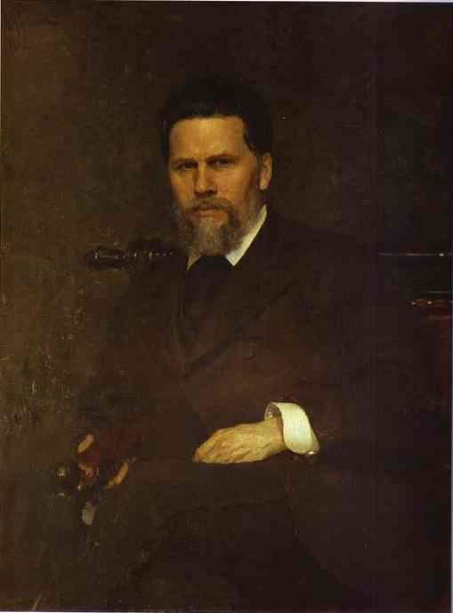 Portrait Of The Artist Ivan Kramskoy 1882 | Ilya Repin | Oil Painting
