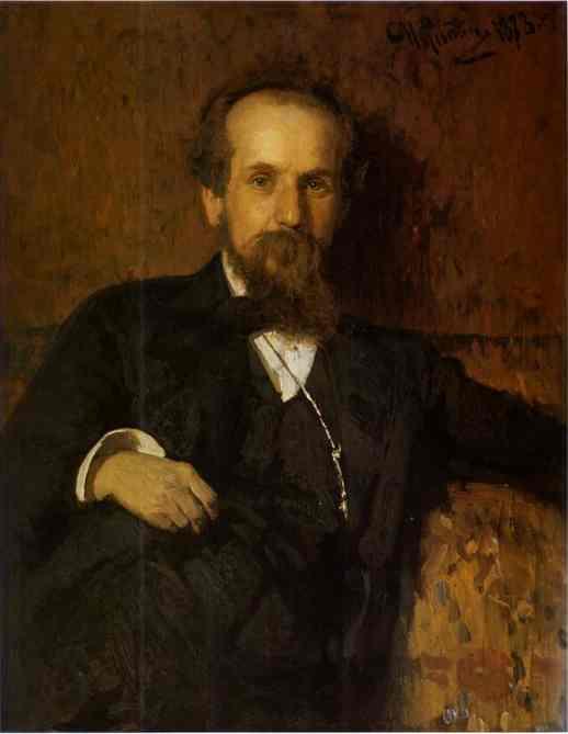 Portrait Of The Artist Pavel Tchistyakov 1878 | Ilya Repin | Oil Painting