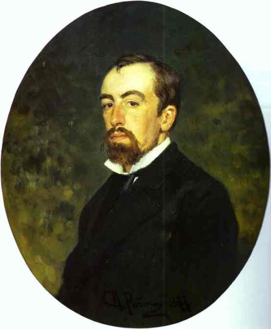 Portrait Of The Artist Vasily Polenov 1877 | Ilya Repin | Oil Painting