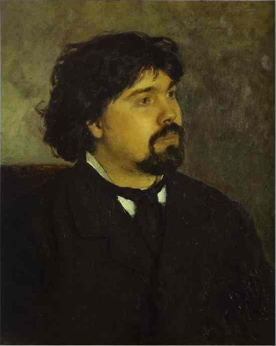 Portrait Of The Artist Vasily Surikov 1885 | Ilya Repin | Oil Painting