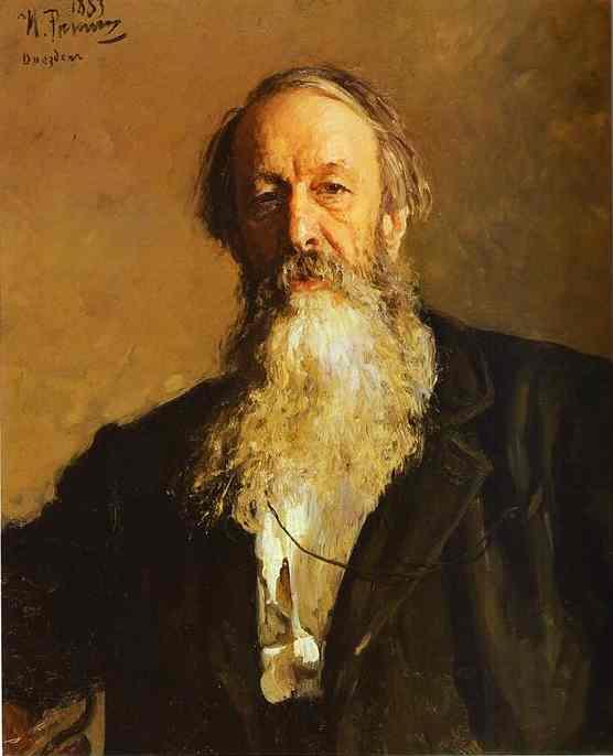 Portrait Of The Art Critic Vladimir Stasov 1883 | Ilya Repin | Oil Painting