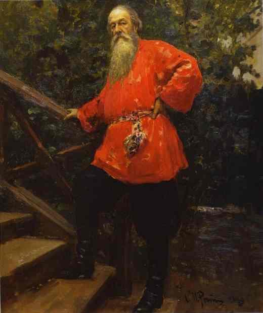 Portrait Of The Art Critic Vladimir Stasov 1889 | Ilya Repin | Oil Painting
