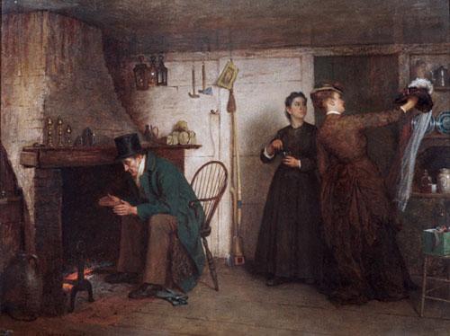 The New Bonnet 1876 | Eastman Johnson | Oil Painting