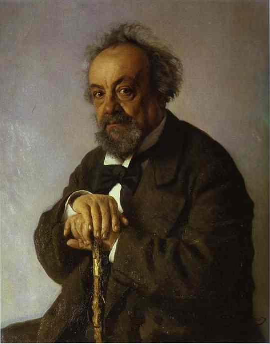 Portrait Of The Author Alexey Pisemsky 1880 | Ilya Repin | Oil Painting