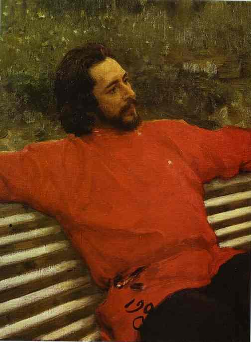 Portrait Of The Author Leonid Andreev 1905 | Ilya Repin | Oil Painting