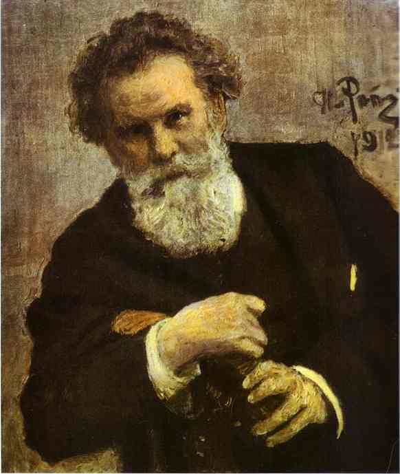 Portrait Of The Author Vladimir Korolemko 1912 | Ilya Repin | Oil Painting