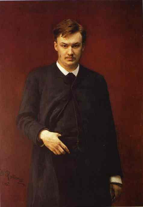 Portrait Of The Composer Alexander Glazunov 1887 | Ilya Repin | Oil Painting