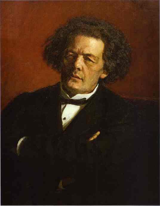 Portrait Of The Composer Anton Rubinstein 1881 | Ilya Repin | Oil Painting