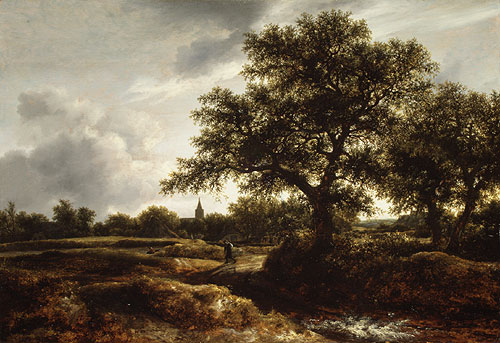 Landscape with a Village in the Distance 1646 | Jacob Isaacksz van Ruisdael | Oil Painting