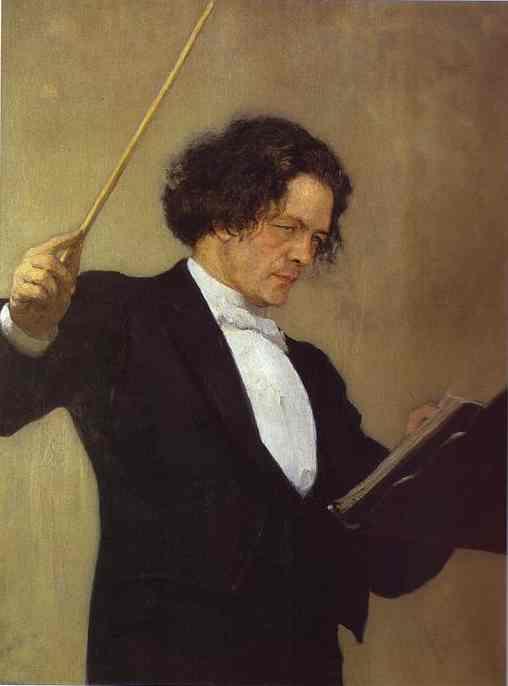 Portrait Of The Composer Anton Rubinstein 1887 | Ilya Repin | Oil Painting