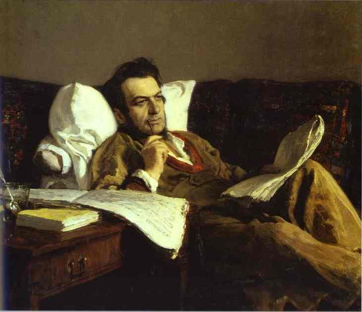 Portrait Of The Composer Mikhail Glinka 1887 | Ilya Repin | Oil Painting