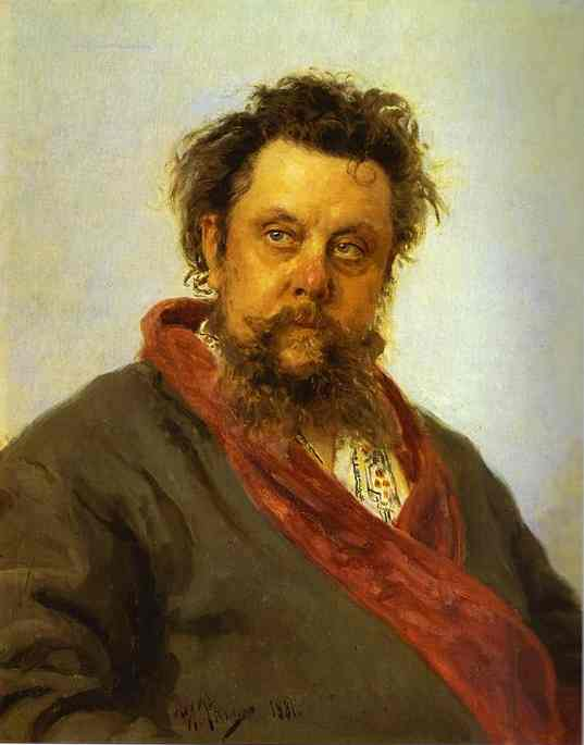Portrait Of The Composer Modest Musorgsky 1881 | Ilya Repin | Oil Painting