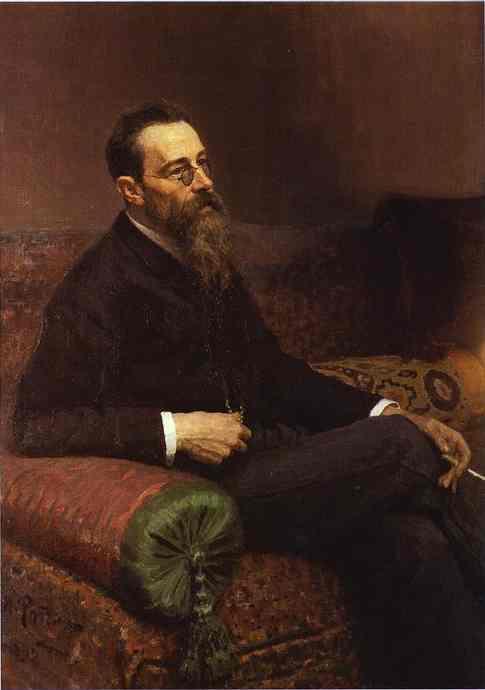 Portrait Of The Composer Nikolay Bymsky Korsakov 1898 | Ilya Repin | Oil Painting