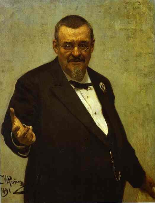 Portrait Of The Lawyer Vladimir Spasovitch 1891 | Ilya Repin | Oil Painting