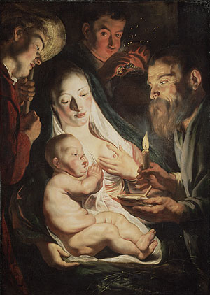 The Holy Family with Shepherds 1616 | Jacob Jordaens | Oil Painting