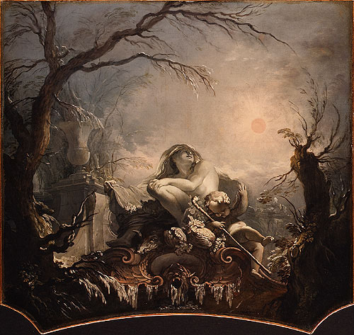 Allegory of Winter overdoor | Jacques de La Joue the Younger | Oil Painting