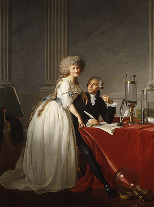 Antoine Laurent Lavoisier and His Wife | Jacques Louis David | Oil Painting