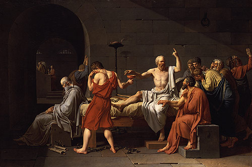 The Death of Socrates 1787 | Jacques Louis David | Oil Painting