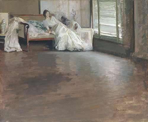 Across the Room ca 1899 | Edmund Charles Tarbell | Oil Painting