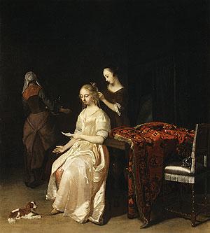 The Love Letter ca 1670 | Jakob Ochtervelt | Oil Painting