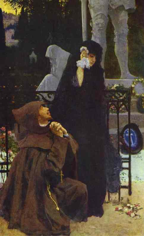Stone Guest Don Juan And Donna Anna 1885 | Ilya Repin | Oil Painting