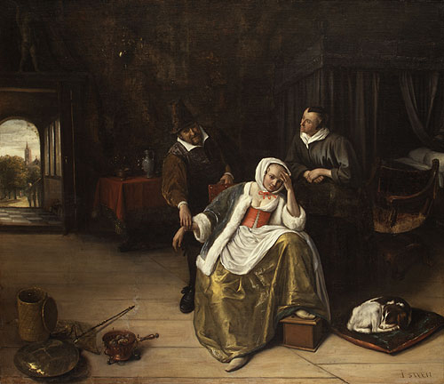 The Lovesick Maiden ca 1660 | Jan Havicksz Steen | Oil Painting