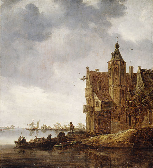 Country House near the Water 1646 | Jan Josephsz van Goyen | Oil Painting