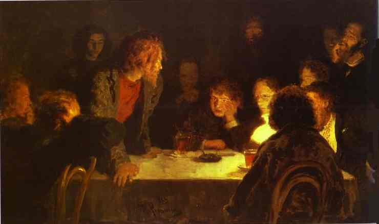 The Revolutionary Meeting 1883 | Ilya Repin | Oil Painting