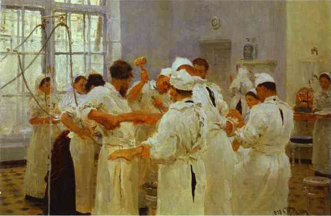The Surgeon E Pavlov In The Operating Theater 1888 | Ilya Repin | Oil Painting