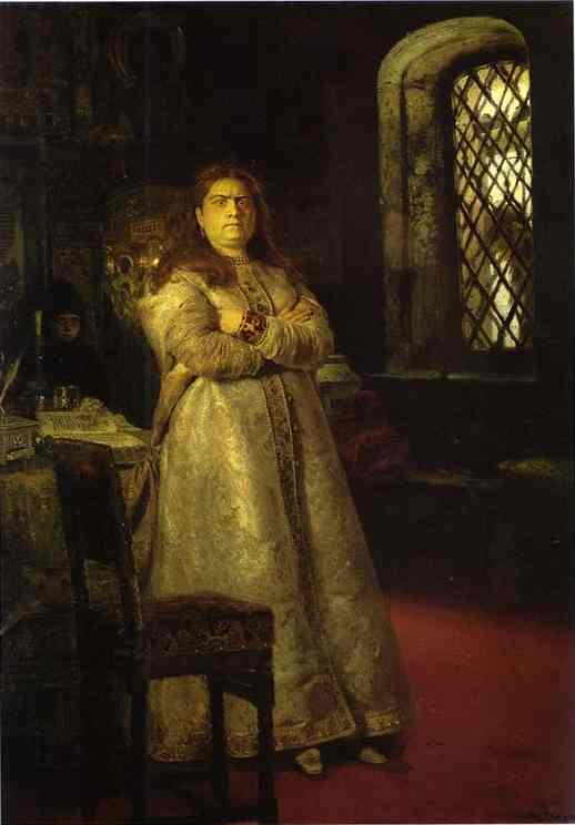 Tsarevna Sophia Alexeevna In The Novodevitchy Convent 1879 | Ilya Repin | Oil Painting